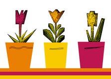 Hand gezeichnete Blumen Stock Abbildung