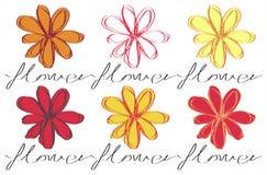 Hand gezeichnete Blumen Stockfotografie