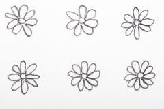 Hand gezeichnete Blumenbleistiftskizzen Lizenzfreies Stockfoto