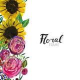 Hand gezeichnete Blumengrenze Vektor Abbildung