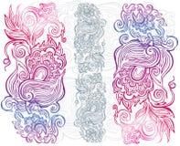 Hand gezeichnete Blumenverzierung Stockbild