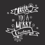 Hand gezeichnete Briefgestaltung für Weihnachten Lizenzfreie Stockfotos