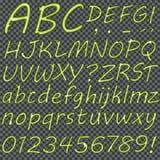 Hand gezeichnete Buchstaben für Ihren Text Lizenzfreies Stockbild