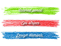 Hand gezeichnete bunte Streifen. Lizenzfreie Stockbilder
