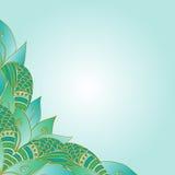 Hand gezeichnete dekorative Elementecke Abstrakte Einladungskarte Stockbilder