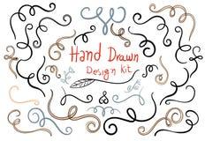 Hand gezeichnete Designausrüstung stock abbildung