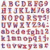 Hand gezeichnete Designbuchstaben für Ihren Text Stockbilder