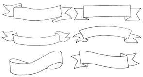 Hand gezeichnete Fahnen Lizenzfreies Stockfoto