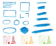 Hand gezeichnete Felder Stockfoto