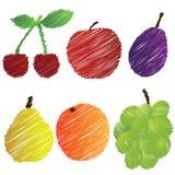 Hand gezeichnete Früchte Lizenzfreie Stockbilder