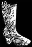 Hand gezeichnete Frauenstiefelillustration Stockbild