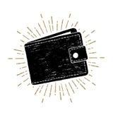 Hand gezeichnete Geldbörsenvektorillustration Lizenzfreies Stockbild