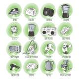 Hand gezeichnete Haushaltsgeräte Lizenzfreie Stockfotografie