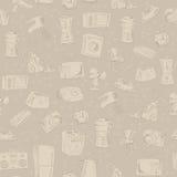 Hand gezeichnete Haushaltsgeräte nahtlos Stockfotos