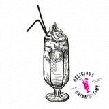 Hand gezeichnete Illustration des Cocktails Stockbilder