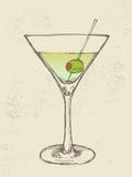 Hand gezeichnete Illustration des gefrorenen Cocktails Stockfotografie