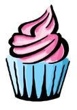 Hand gezeichnete Illustration des geschmackvollen kleinen Kuchens lizenzfreie abbildung