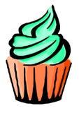 Hand gezeichnete Illustration des geschmackvollen kleinen Kuchens stock abbildung