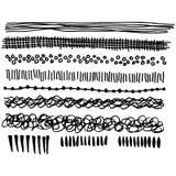 Hand gezeichnete künstlerische Medienlinien Lizenzfreie Stockbilder