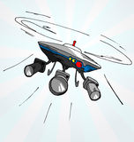 Hand gezeichnete Karikaturillustration des Fliegenbrummens Lizenzfreies Stockfoto