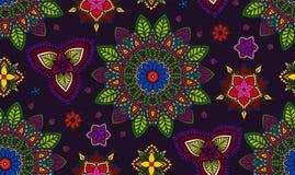 Hand gezeichnete Mandala, Blumenmuster-Element Lizenzfreie Stockfotografie