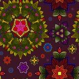 Hand gezeichnete Mandala, Blumenmuster-Element Stockbilder