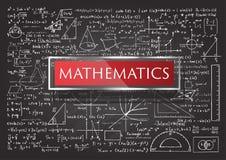 Hand gezeichnete Mathematik Lizenzfreie Stockfotografie