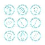 Hand gezeichnete medizinische Ikonen Stockfoto