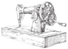 Hand gezeichnete Nähmaschine Lizenzfreies Stockfoto
