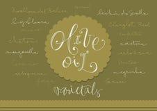 Hand gezeichnete Olivenölvielzahl lizenzfreie abbildung