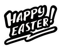 Hand gezeichnete Ostern-Beschriftung Lizenzfreies Stockfoto
