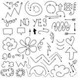 Hand gezeichnete Pfeile Lizenzfreie Stockbilder