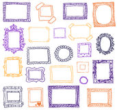 Hand gezeichnete photoframes Sehen Sie ähnliche Abbildungen in meinem Portefeuille! Lizenzfreie Stockfotos