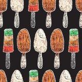 Hand gezeichnete Restaurantmenüelemente Stockfoto