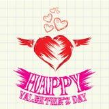 Hand gezeichnete schöne Karte der Valentinstagliebe. vektor abbildung