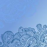 Hand gezeichnete Seelebenkarte Lizenzfreies Stockbild