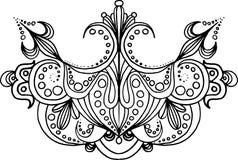 Hand gezeichnete Symmetrieverzierung Stockbilder