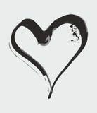 Hand gezeichnete Tinte plätschern Herzvektor Stockfoto