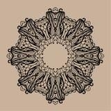 Hand gezeichnete Vektor zentangle Mandala - kann als Malbuchseite für Erwachsene verwendet werden, Karte, Einladung Stockfoto