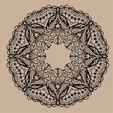 Hand gezeichnete Vektor zentangle Mandala - kann als Malbuchseite für Erwachsene verwendet werden, Karte, Einladung Stockbild