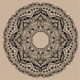 Hand gezeichnete Vektor zentangle Mandala - kann als Malbuchseite für Erwachsene verwendet werden, Karte, Einladung Stockfotografie