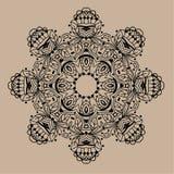 Hand gezeichnete Vektor zentangle Mandala - kann als Malbuchseite für Erwachsene verwendet werden, Karte, Einladung Lizenzfreie Stockfotos