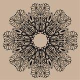 Hand gezeichnete Vektor zentangle Mandala - kann als Malbuchseite für Erwachsene verwendet werden, Karte, Einladung Lizenzfreies Stockfoto