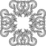 Hand gezeichnete Vektorgekritzelmandala Stockbild