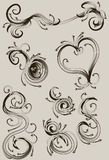 Hand gezeichnete Verzierungansammlung Stockfotos