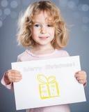 Hand gezeichnete Weihnachtskarte Stockfotos