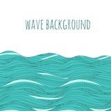 Hand gezeichnete Wellen Stockfoto