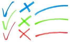 Hand gezeichnete Zeichen Stockbilder