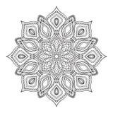 Hand gezeichnete zentangle Mandala Lizenzfreie Stockfotos