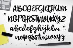 Hand gezeichneter ABC-Satz Lizenzfreies Stockfoto